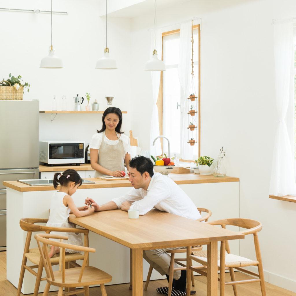 工務店注文住宅の対面式キッチン、相模原市