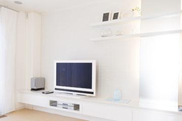 相模原市注文住宅の 造作テレビ台