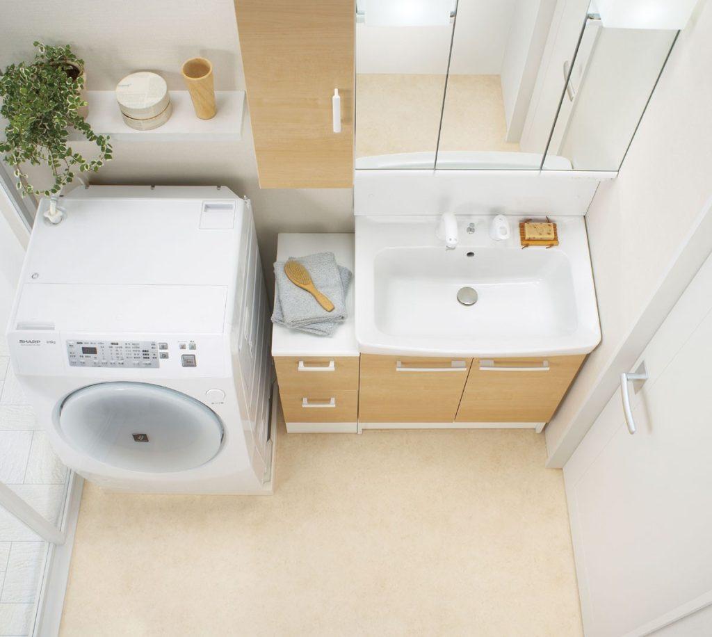 注文住宅の間取りで洗面収納を説明するブログ